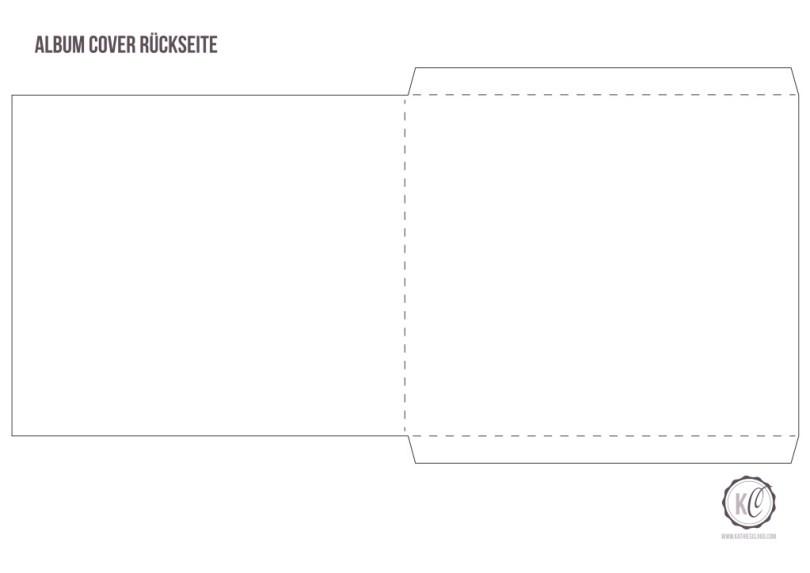 DIY CD-Cover aus Papier Template Rueckseite