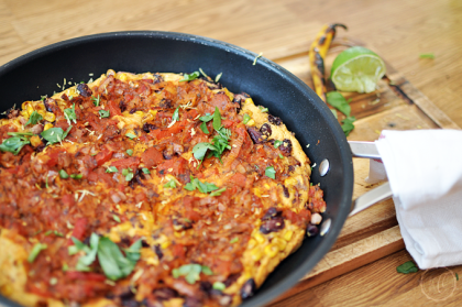 Mexikanisches Kichererbsen- Omelett