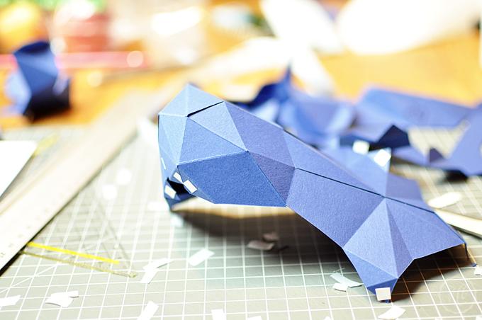 PaperShape Teile kleben
