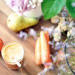 Karotten-Apfel-Birnen-Ingwer-Saft