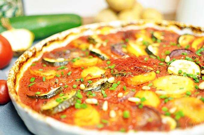Gemüse-Safran-Auflauf