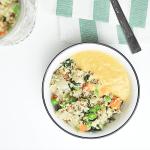Quinoa mit Gemüse und Linsen-Karotten-Dip   Kathie's Cloud