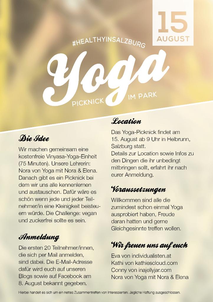 #healthyinsalzburg Yoga Picknick im Park Salzburg