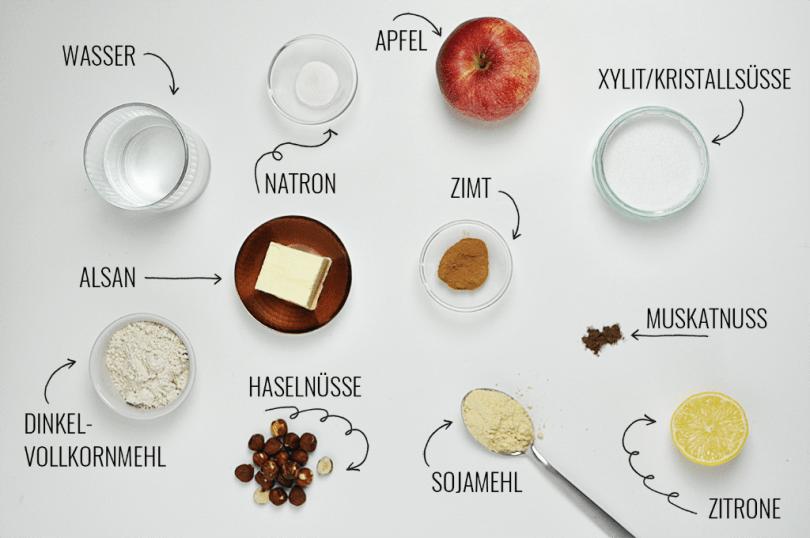 Apfel-Streusel-Kuchen vegan und zuckerfrei