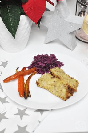 #healthyxmasfood Gemüse-Maroni-Braten mit Rotkraut