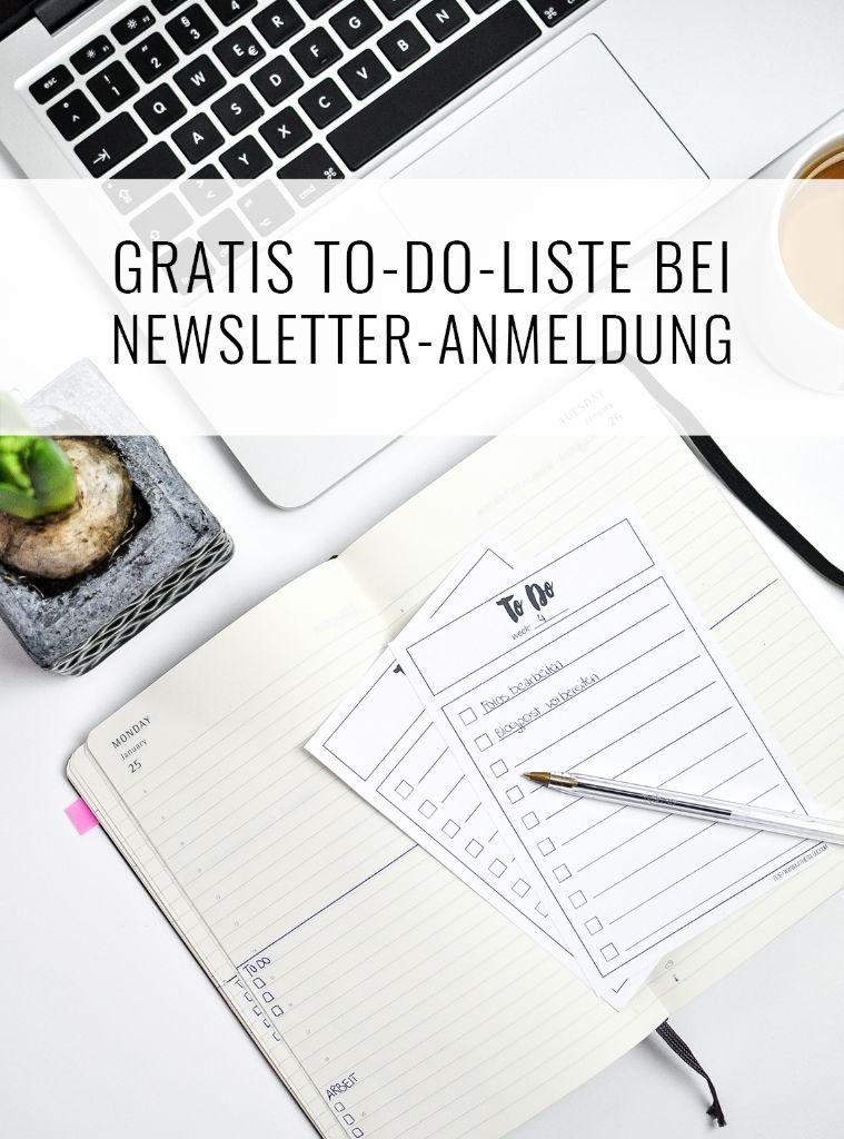 Gratis To-Do-Liste bei Newsletter Anmeldung