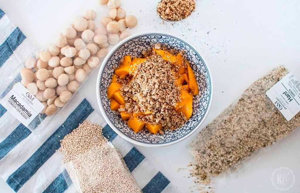 Blogger-Event in Wien und das Rezept für Macadamia-Quinoa-Hanf-Crumble