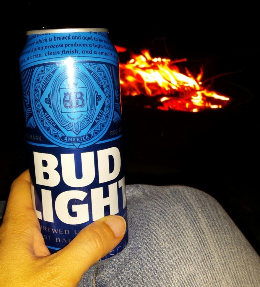 Campfire and Bud Light