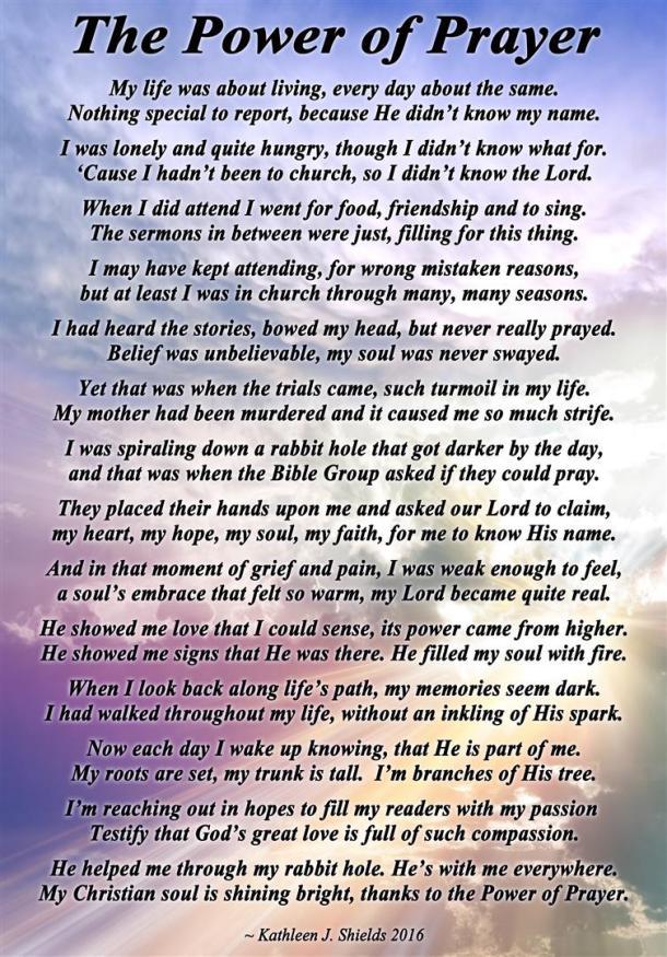 Power of Prayer background