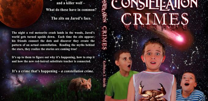 Constellation Crimes book cover by author Kathleen J. Shields