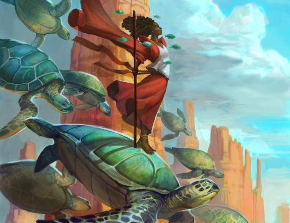 """Turtle Rider"" illustration by Julie Dillon"