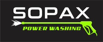 SOPAX logo w gun on black