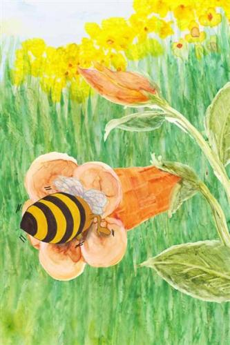 Barney Bee buzzing in flower hamilton troll books kathleen j shields author