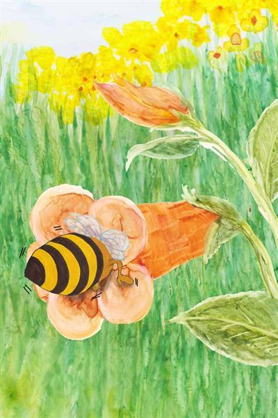 Barney Bee buzzing in flower hamilton troll books kathleen j shields author