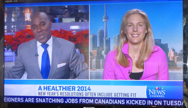 Kathleen on CTV News - A Healthier 2014 2