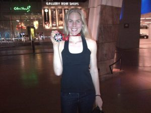Kathleen with Las Vegas 1:2 Marathon Medal