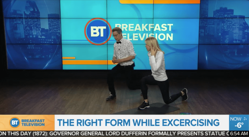 Breakfast television proper exercise techniques