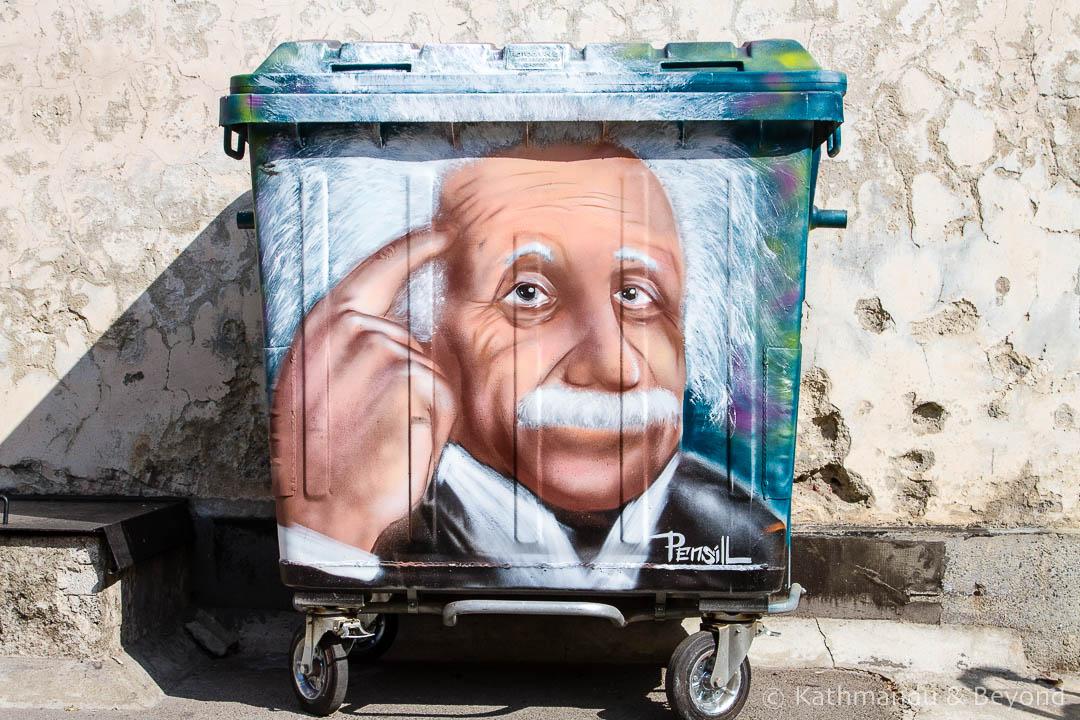 Einstein Street Art in Sofia   Bulgaria