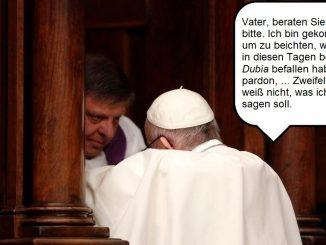 Papst Franziskus bekommt Zweifel