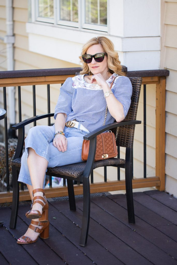 Styling a blue monochromatic look for Spring.