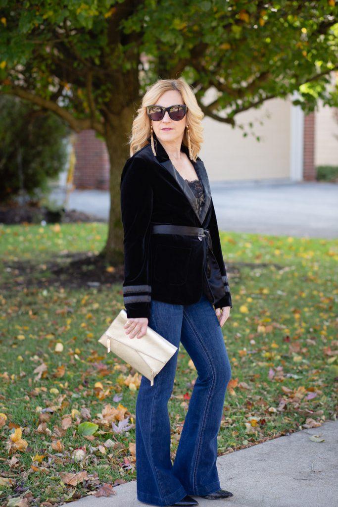 Velvet Blazer and Holiday Dressing by Kathrine Eldridge, Wardrobe Stylist