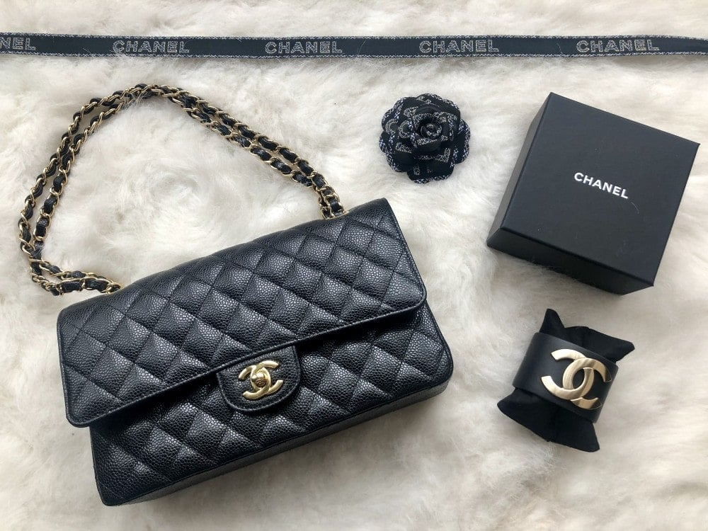 My new Chanel Bag and cuff.