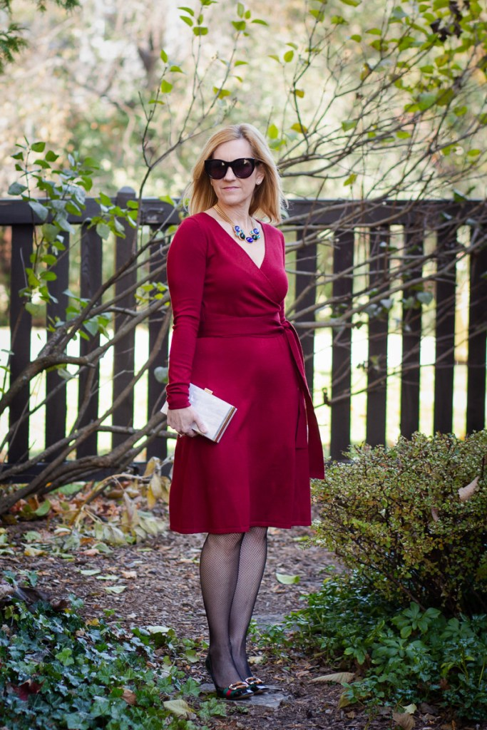 Holiday Wrap Dress under $50 by Kathrine Eldridge, Wardrobe Stylist