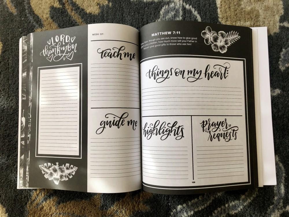 Inside of Prayer Journal for Women by Shannon Roberts