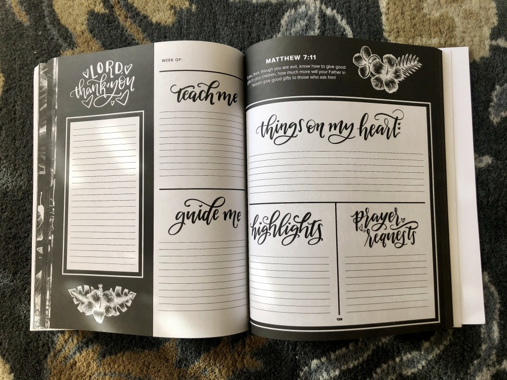 Inside of Prayer Journal for Women by Shannon Roberts
