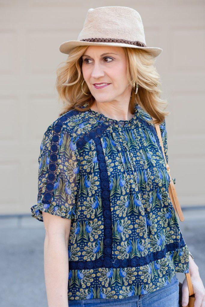 Tina Embroidered Lace Blouse by Daniel Rainn