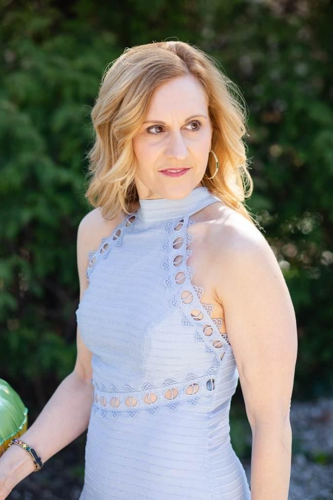 Wearing the New Look Mini Dress by Keepsake.