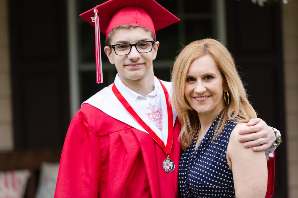 Graduation photo shoot with my son.