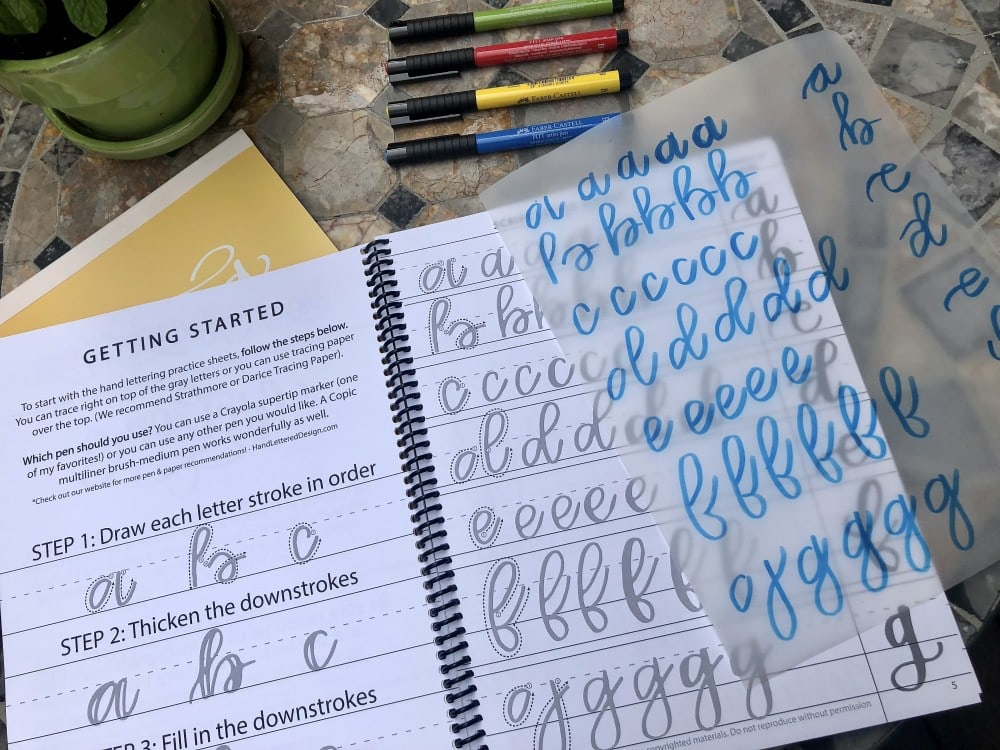 Getting started in my Creative Lettering Journal.