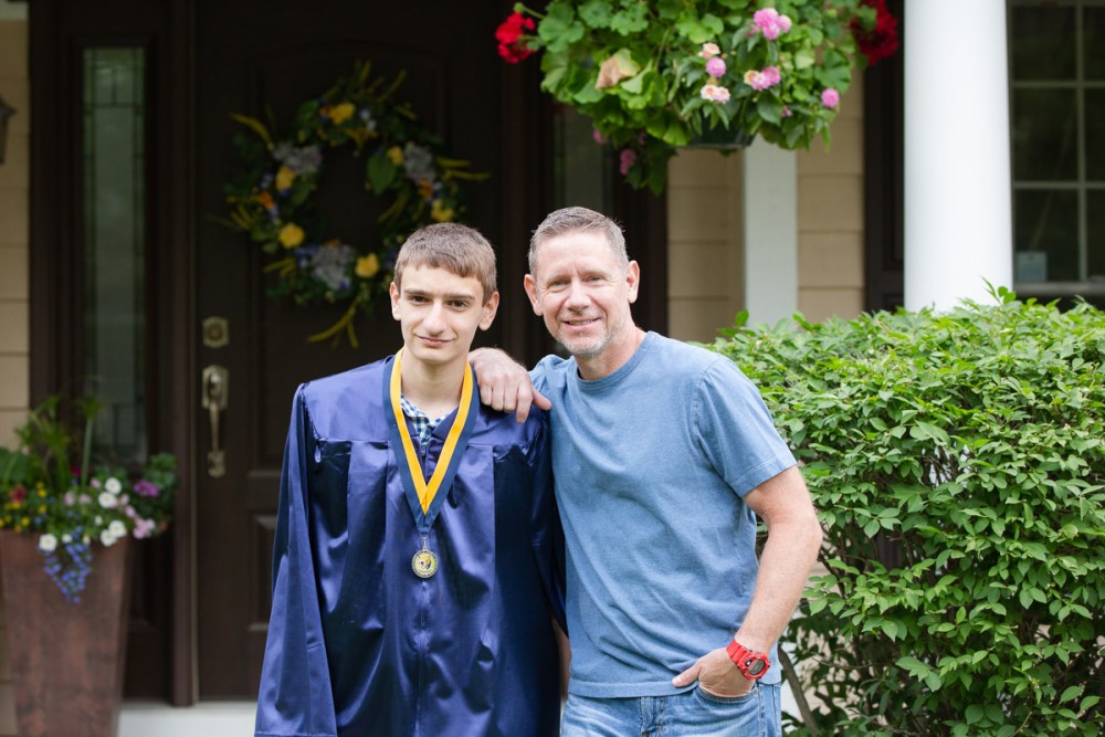 Father and son at Austin's 8th grade graduation.