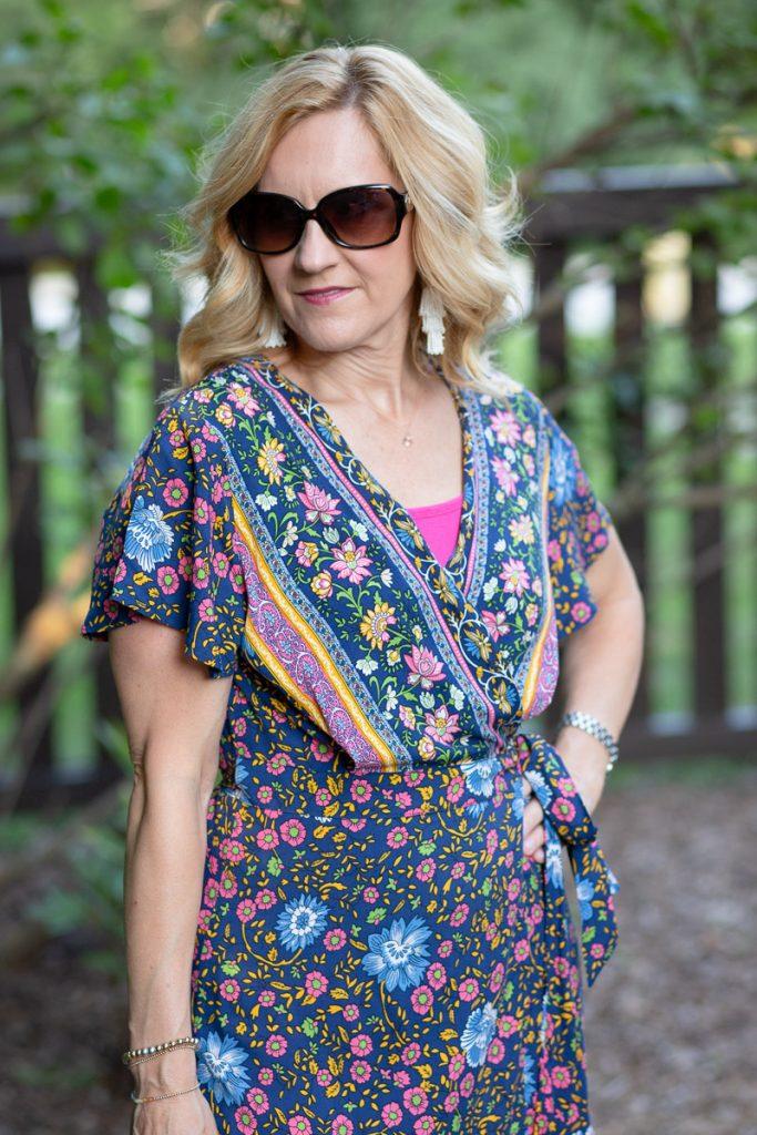 Zesica Bohemian Floral Print Ruffle Dress