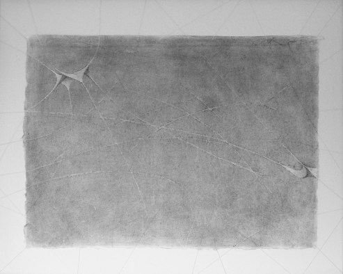 Graphit auf Japanpapier, an Bändern aufgehängt • 59,4 x 42 cm