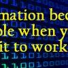 Put Information to Work