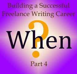 Know When for a Successful Writing Career
