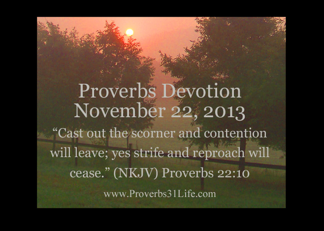 Proverbs Devotion 11-22-13