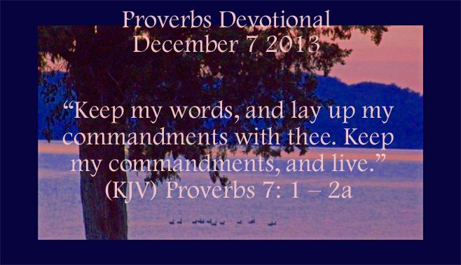 Proverbs Devotion
