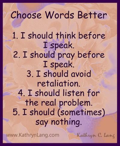 Words create change