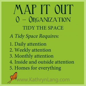 MAP IT OUT - Organization - Tidy the Space
