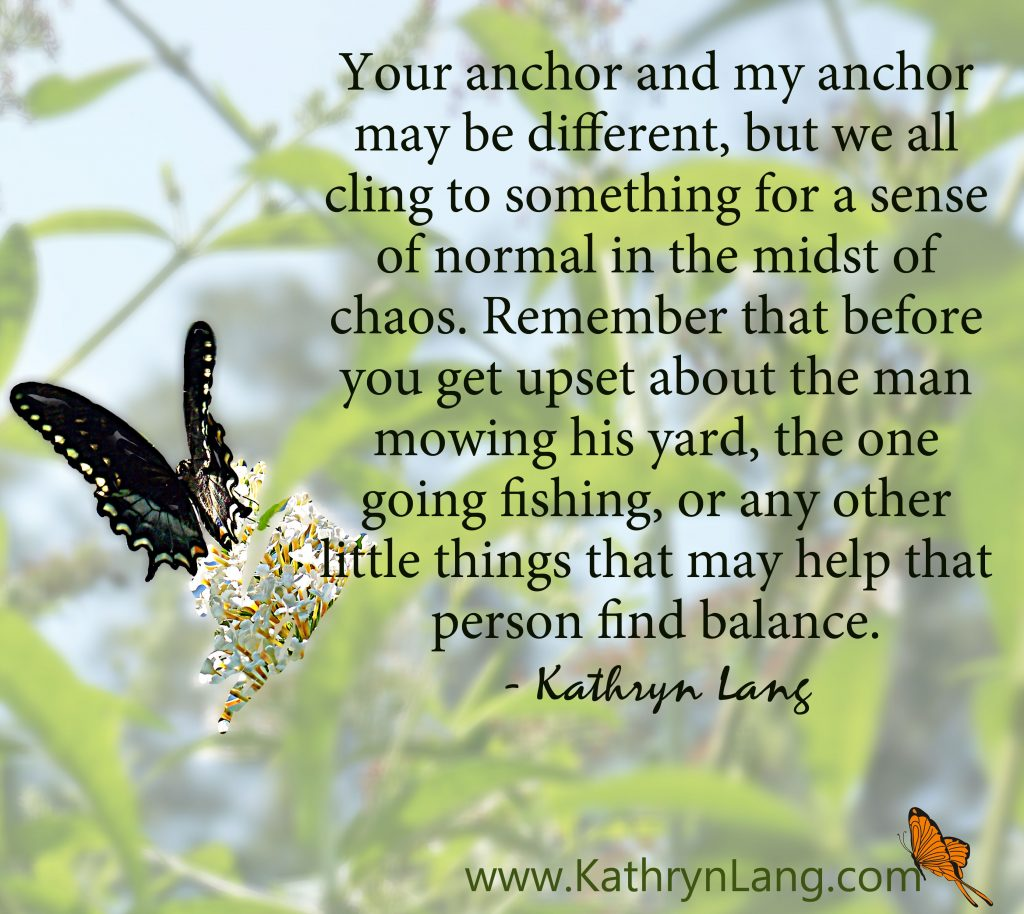 quote of the day - anchor in the chaos