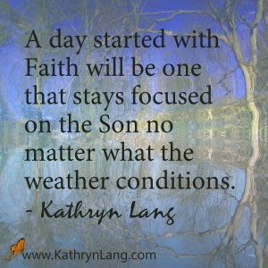 Quote of the day - Start with Faith