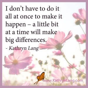 Quote of the day - Little bits to big differences