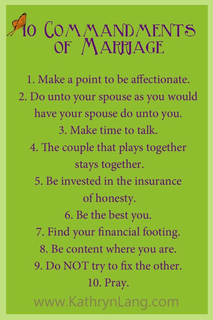 10 Marriage Commandments