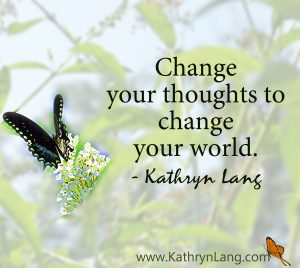 Change your thoughts to change the world