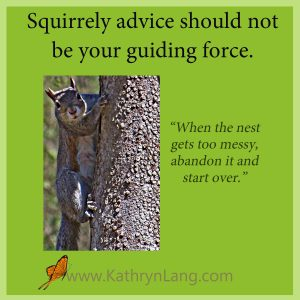 squirrel in tree - life lessons from squirrels