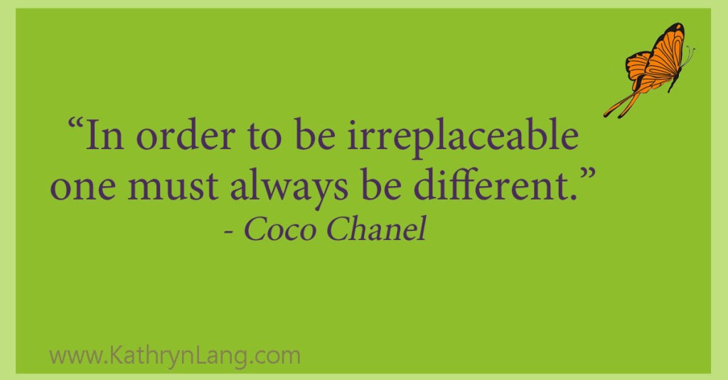 be difference - Coco Channel