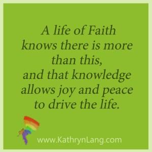 Lack of faith or life of faith
